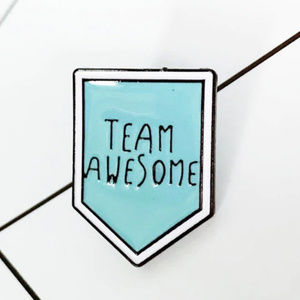 🌈2for$20! Team Awesome Blue Enamel Pin DIY.
